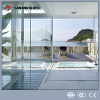 12mm tempered glass for sunrooms & glass houses