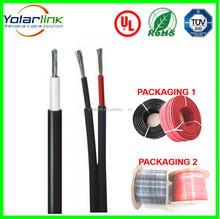 PV system twin 6mm dc solar cables double cable and single core cable