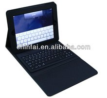 Multi-language bluetooth keyboard with pu leather case for ipad/iphone