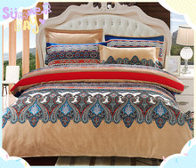 2015 wholesale Brand new african printed 100% polyester 110gsm colorful embroidery home choice bedding/duvet cover
