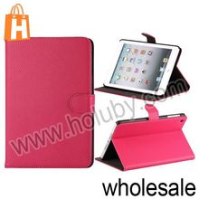 Notebook Type Litchi Pattern Magnetic Cover Folio Stand Leather Case for Retina iPad Mini (5 Colors Optional)