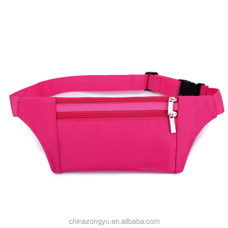 4 colors waterproof nylon waist bag mixed order support