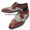 sdd0605 classic check oxford slime dress shoes