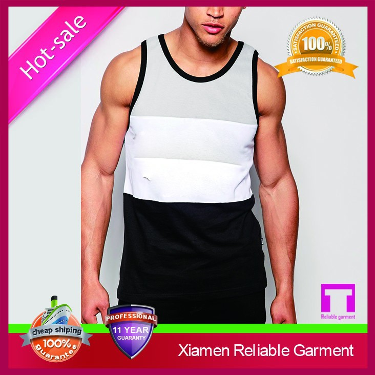 Best quality cheap good selling custom mens gym vest by manufacturer