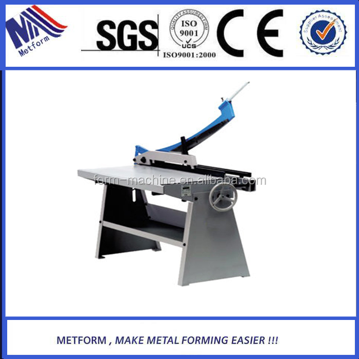 From Europe design Metform hand shear <strong>machine</strong>/guillotine shear with factory price