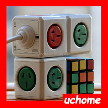 UCHOME PowerCube Original Socket, 5 Outlet Wall Adapter Power Strip Multiple Socket