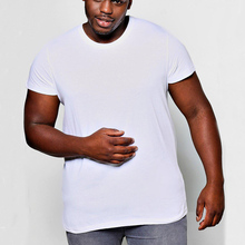 Wholesale 100% Cotton Big And Tall Men's Crew Neck T Shirts OEM service