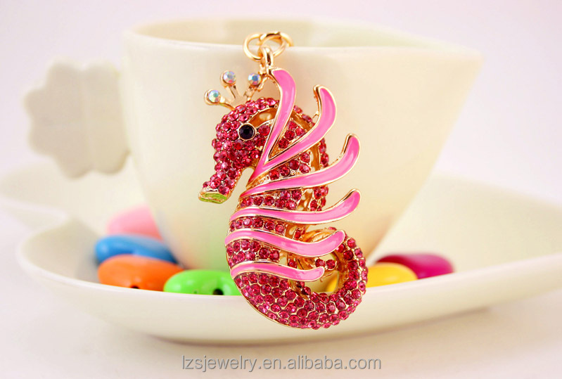 Colorful Small Seahorse Design Cute Keychains For Car <strong>Keys</strong>