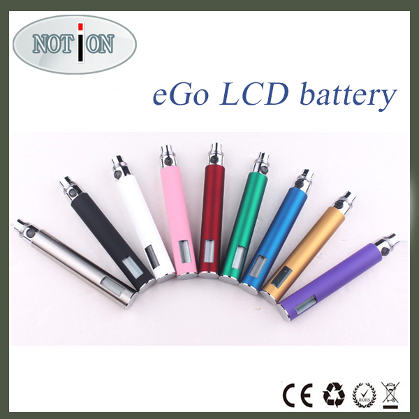 2014 Notioncig Classical model and design electronic cigarette ego battery 1300mah lcd