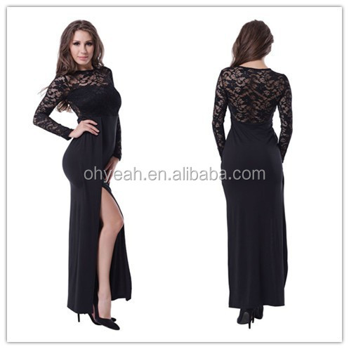 The best selling high slit and long style wholesale cheap plus size evening dress for fat women