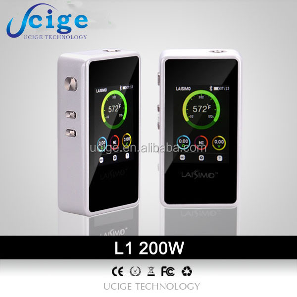 electronic vapor cigarettes Sigelei 90w plus watt upgrade mod E cigarette catalog Laisimo L1 200w bluetooth vaping 101