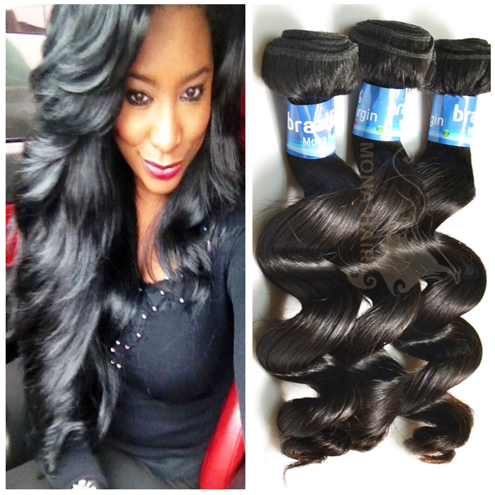 China big wholesaler Mona Hair top 10 products 7A grade Brazlian super wave hot sale in south american hair