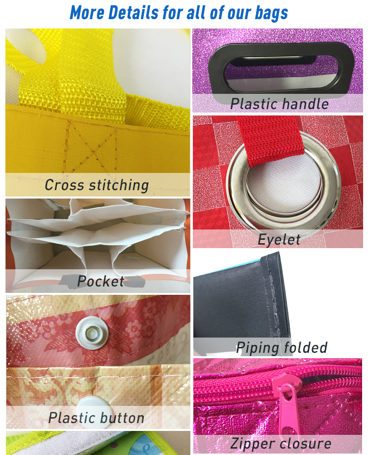 Newest sale trendy style with pp handle shopping rpet bag
