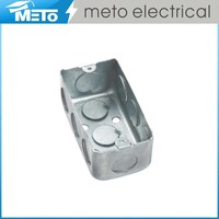 METO 1 deep junction box/electrical junction boxes/galvanized steel junction box