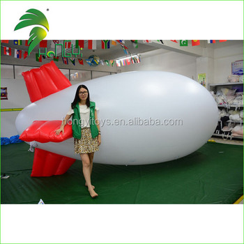 Advertising Zeppelin Airship / Custom Professional Inflatable Blimp Helium Airship for Activity Display
