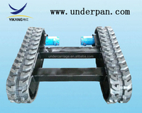 1 tons rubber track undercarriage for samll loading transportation equipment