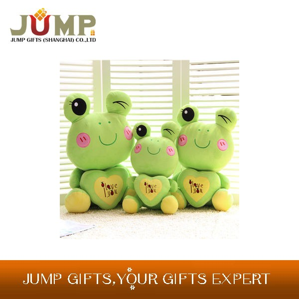 cheapest plush toy, new design green frogs plush toys