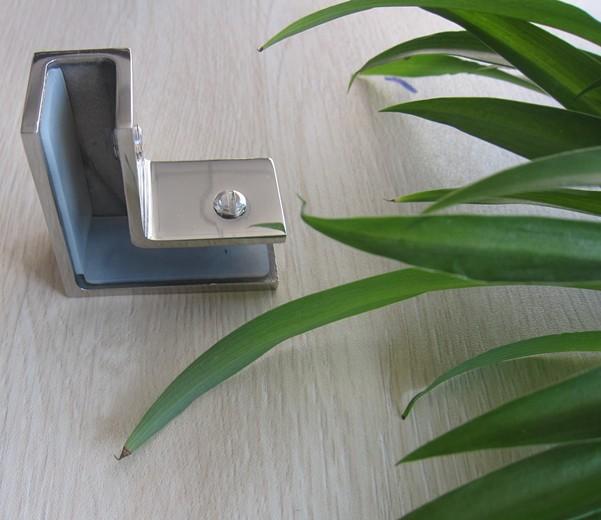 stainless steel glass balcony glass railing hardware u shaped clamp