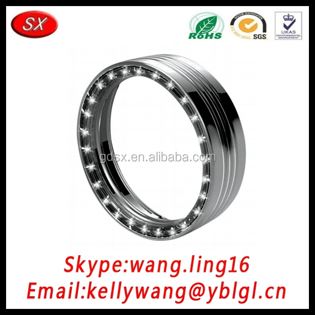 China factory custom anodized aluminum headlight trim ring,auto exterior accessories pass ISO/TS16949 certification