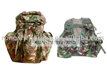 DPM Camouflage Webbing Equipment 90 with Aluminium Frame Inserted