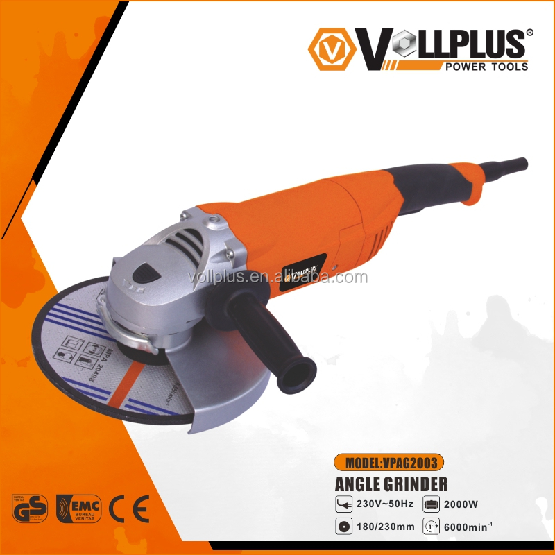 VOLLPLUS VPAG2003 180mm 2000W Long Handle Electric Angle Grinder