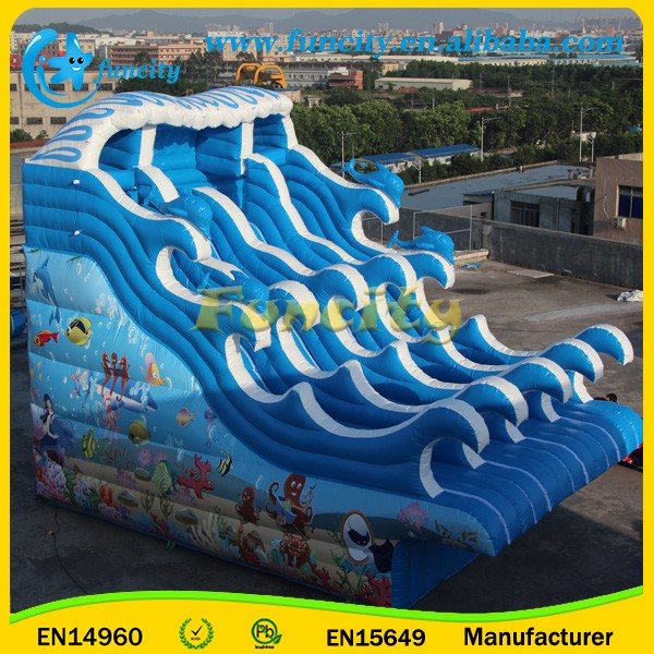Giant Inflatable Pool Slide , Inflatable Slide With Frame Pool For Adult