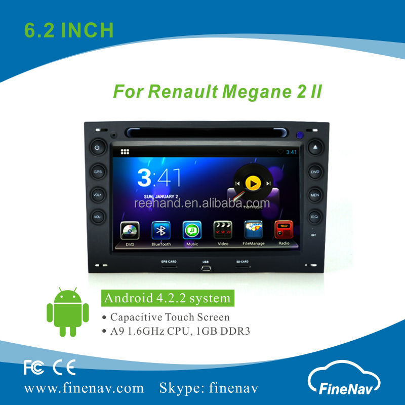 "Finenav 7"" HD Car GPS Android 4.2.2 with 3G,Wifi for Renault Megane with Gps Navi,Bluetooth,Ipod Support Rear View Camera,DVR"