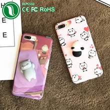 phone accessories mobile Cute 3d panda soft tpu imd squishy case for iphone 7 plus