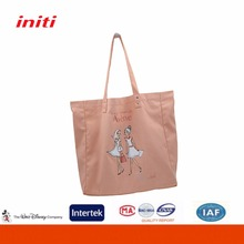 Promotional Eco Friendly Natural Pink large heavy cotton canvas tote bag