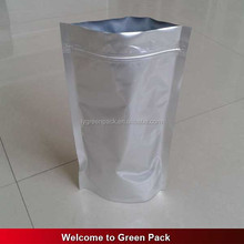 Custom printed plastic packaging aluminum foil silver color ziplock mylar bag/ stand up zipper lock food pouch
