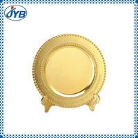 producer custom souvenir commemorative plate with fake gold plated
