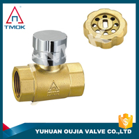 magnetic lockable ball valve brass material and medium pressure brass ball valve