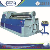 CNC three roller hydraulic plate rolling machine,plate bending machine drawing