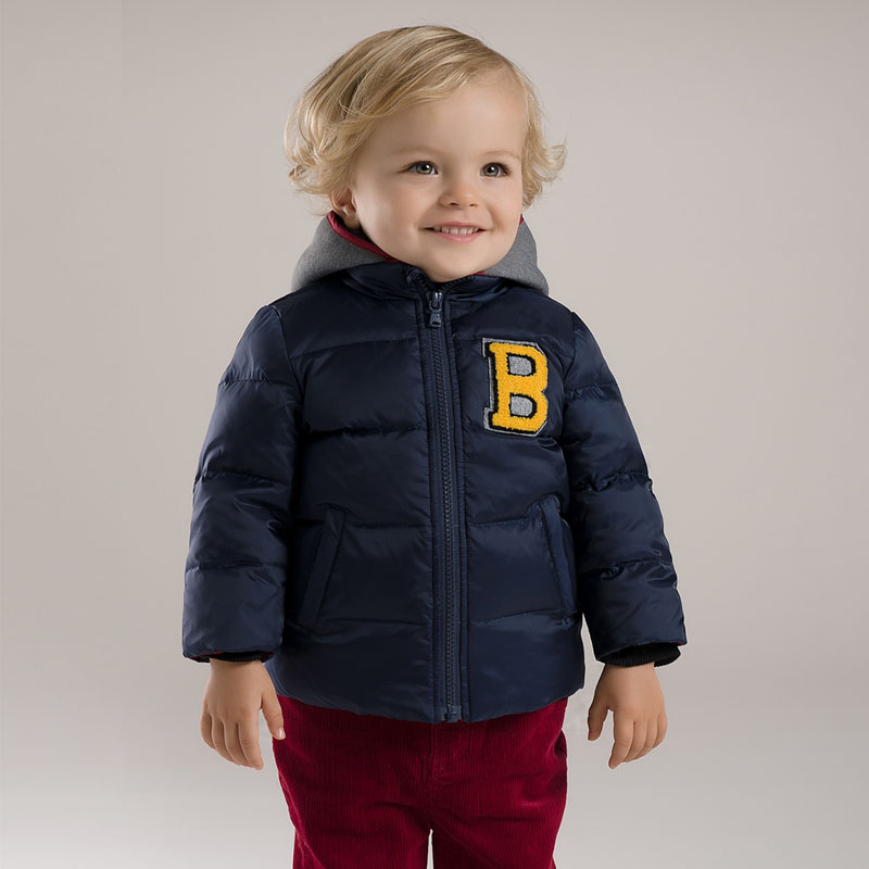 DB2949 dave bella 2015 autumn winter infant coat baby boy down jacket padded jacket outwear boys down coat down jacket