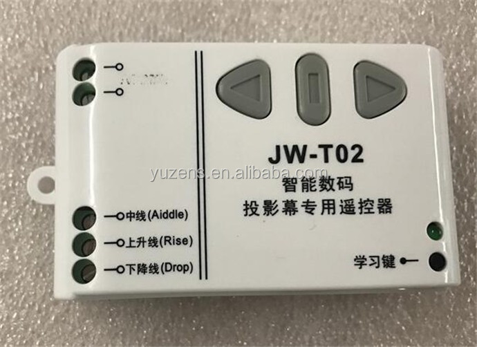 JW-T02 433MHz Projection Screen Wireless Remote Controller &Receiving Controller