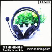 Promotional item wired bulk headphones various color headset from ShenZhen factory wholesale headphones (OS-JM890)