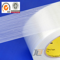 medium grade clean residual strong strength one way BOPP fiberglass filament tape,substitute for 3M 8915