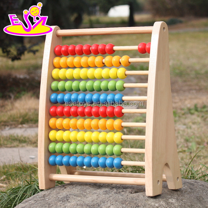 2017 New design children educational abacus wooden counting toy W12A029
