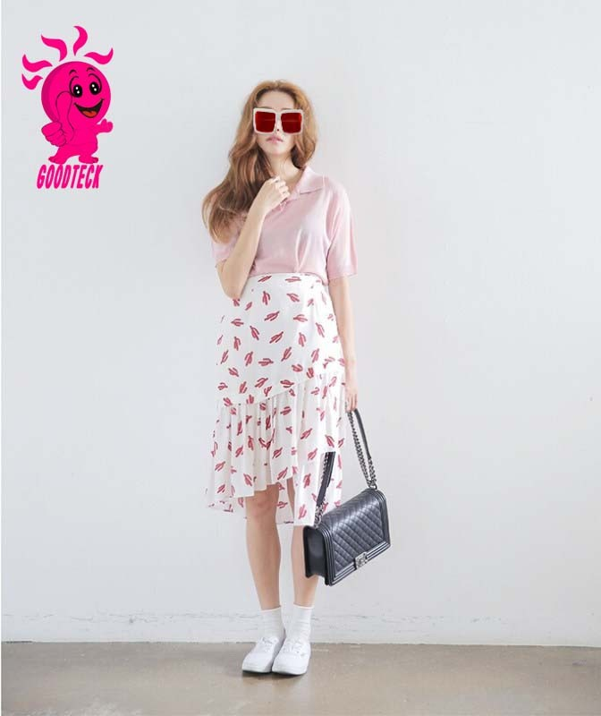 New Fashion Style Hot Sale Womens Vintage Elegant Print long maxi skirt