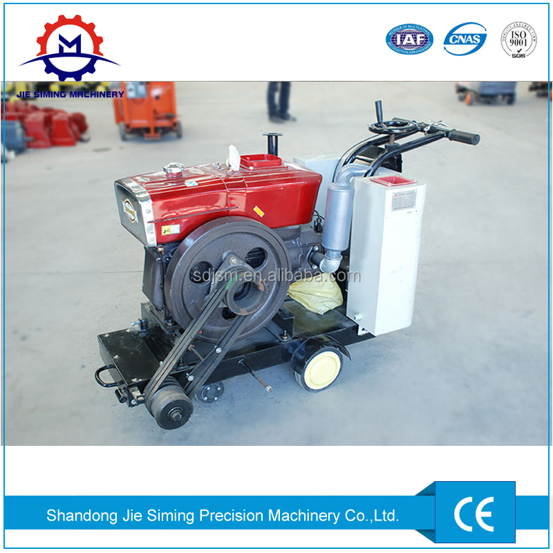 Walk behind concrete cutter Road surface saw machine