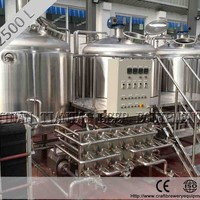 2500L Jacketed Bottle Microbrewery Equipment
