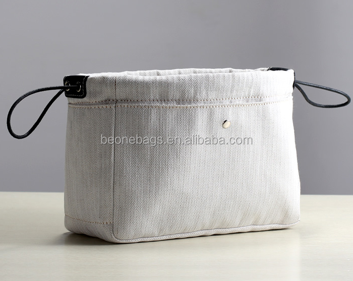 Twill Canvas Inner Bag Organizer with Drawstring Closure