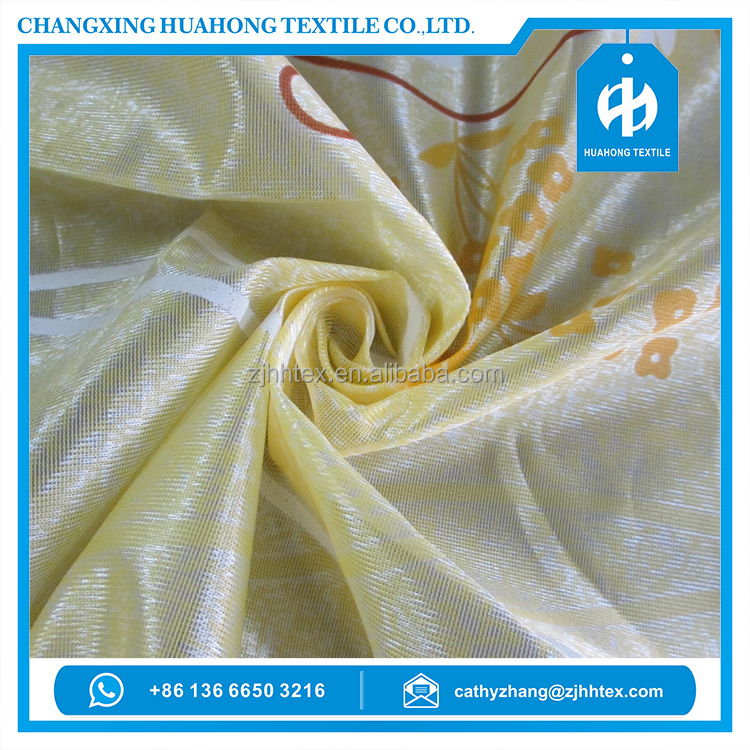 70GSM 210CM printed fabric polyester knitting fabrics mattress for classic home textile