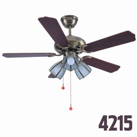 Bronze Modern 5 Blade 3 Lights Outdoor Ceiling Fans With Remote