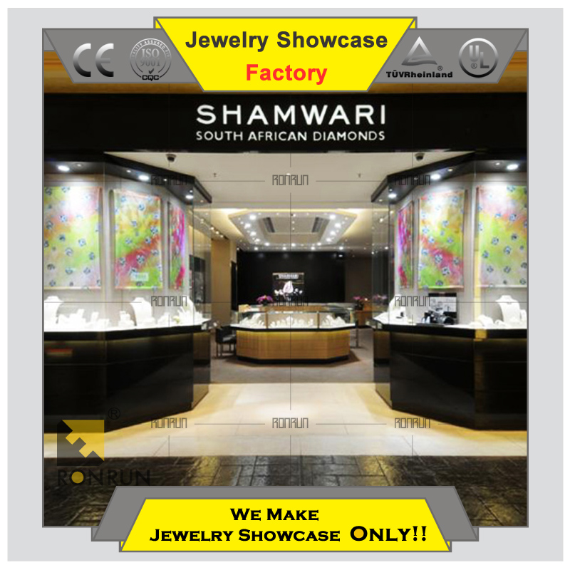 Hot 2015 popular custom made jewelry showcase display for shop decor