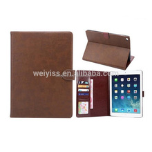 PU Leather Case for ipad air 2 credit card holder with Auto Sleep & Wake Function