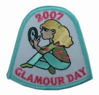 USA GLAMOUR DAY twill embroidery designs badges