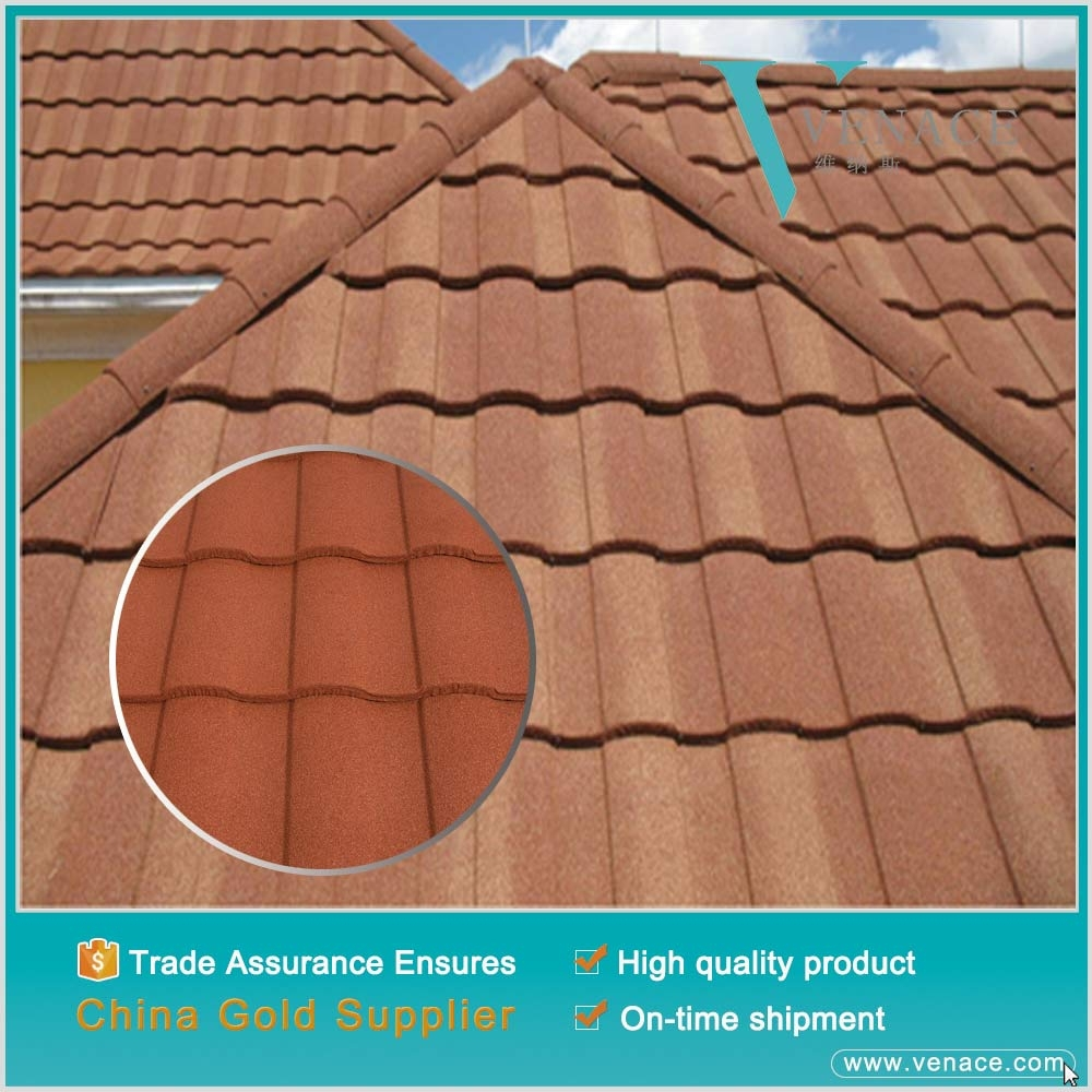 Color stone coated metal roof tile types of roof shingles for Type of roof tiles