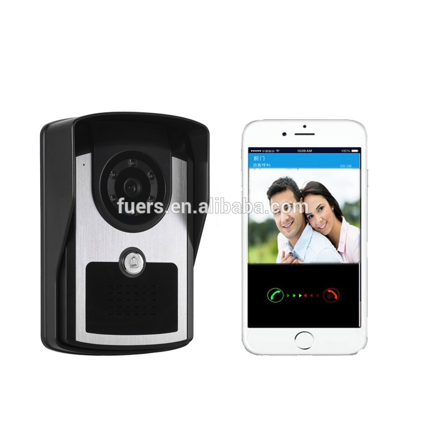 2016 New real time video recording WIFI smart door bell with wireless HD camera support APP controlled
