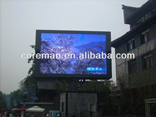 easy program computer control hanging fix to the wall p12mm rgb semi-outdoor led billboards